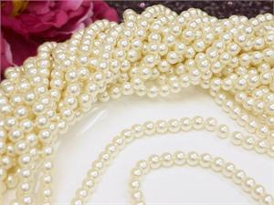 6mm Ivory Pearls - 10m