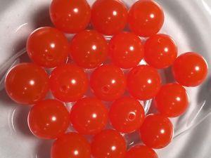 6mm Plastic Egg Beads - Pkt of 100