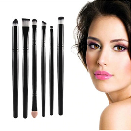 6pc Cosmetic Brush Set *Black* CODE: 6BK