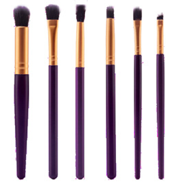 6pc Dark Purple & Gold Makeup Brush Set (DPG)