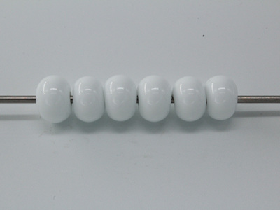 6x Spacer beads - opaque white