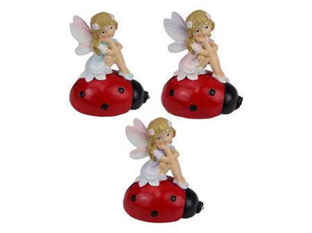 7.5 cm Fairy Sitting on Ladybug
