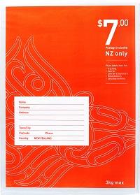 $7 flat flat - prepaid bag NZ wide - size 4.