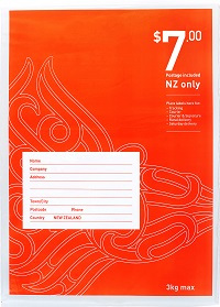 $7 flat flat - prepaid bag NZ wide - size 4.