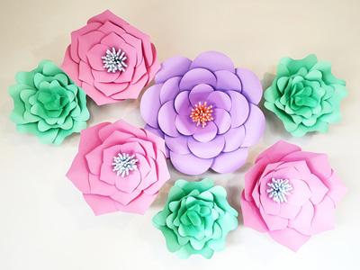 7 piece paper flower set