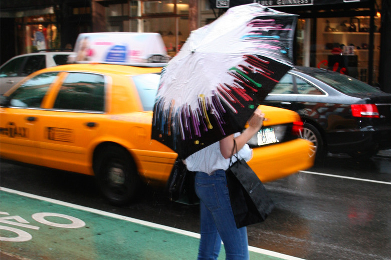Adults Paintdrip Umbrella in NYC