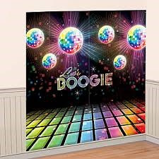 70's Party Wall Decorating Kit - Let's Boogie