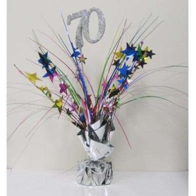 70th Birthday Table Centerpiece - Multi