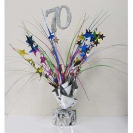 70th Birthday Table Centerpiece - Multi
