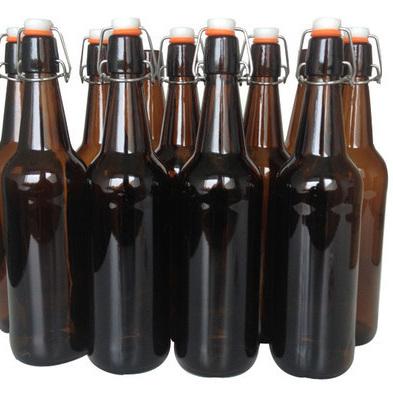 750ml Glass Flip-Top Bottles 12s