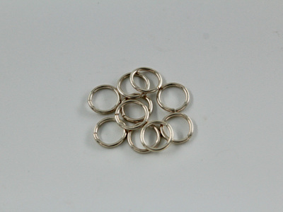 7mm jumprings - .8mm - sterling silver