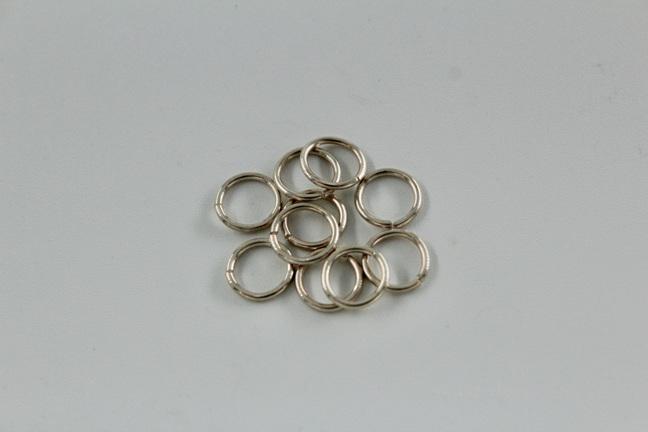7mm jumprings - .8mm - sterling silver