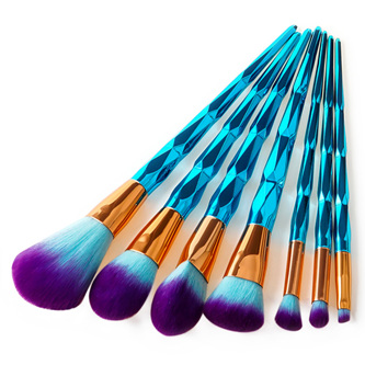 7pc Aqua UNICORN Makeup Brush Set