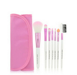 7pc Makeup Brush set in Case - Pink
