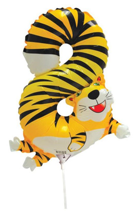 8  Number Tiger Foil Balloon