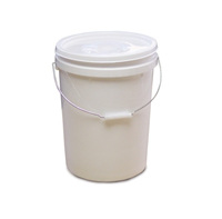 8 x 20 Litre Food Grade Plastic Buckets with Lids