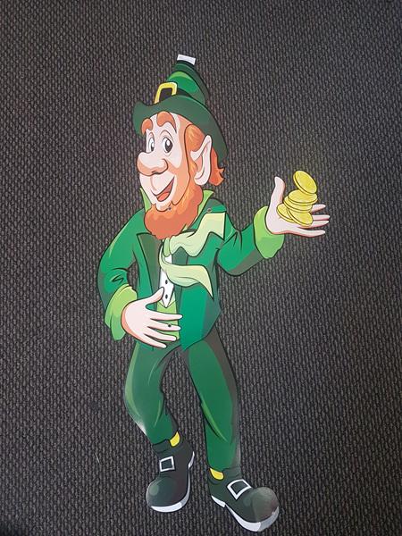 89cm cardboard leprechaun cutout