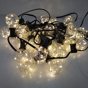 8m 25 Light bulbs Starry Festoon Lights - Warm White