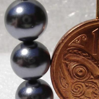 8mm Black South Sea Shell Pearls