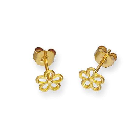 9 CT Gold Earrings - Sweet Flower