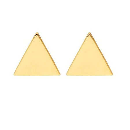 9 CT Gold Earrings - Triangle Stud