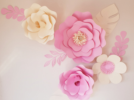 9 piece paper flower set