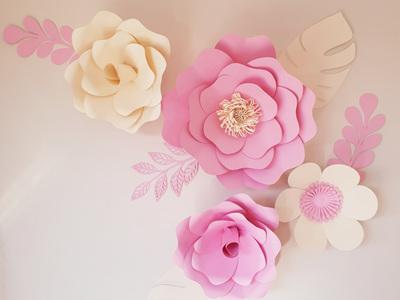 9 piece paper flower set