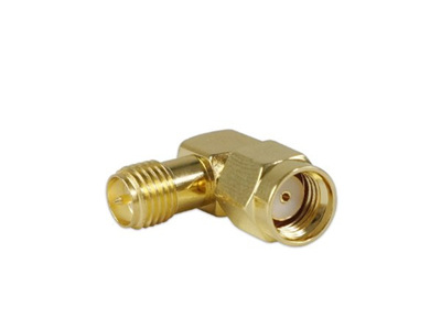 90-degree RP-SMA Male to SMA Female Connector