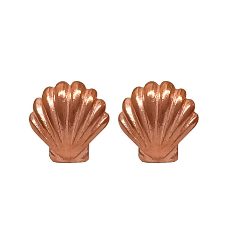 925 Scallop Rose Gold Plate Earring