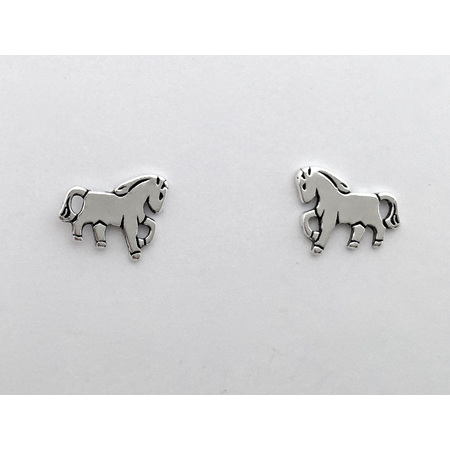 925 Sterling Silver Horse Earring