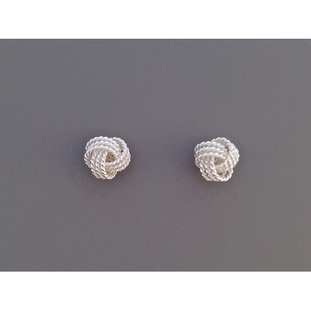 925 Sterling Silver Knot Earring