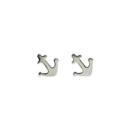 925 Sterling Silver Nautical Anchor Earring