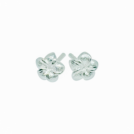 925 Sterling Silver Small Frangipani Earring