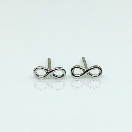 925 Sterling Silver Small Infinity Earring