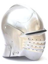 "Helmet 23 - Maximilian Style ""Bellows Face"" Sallet"