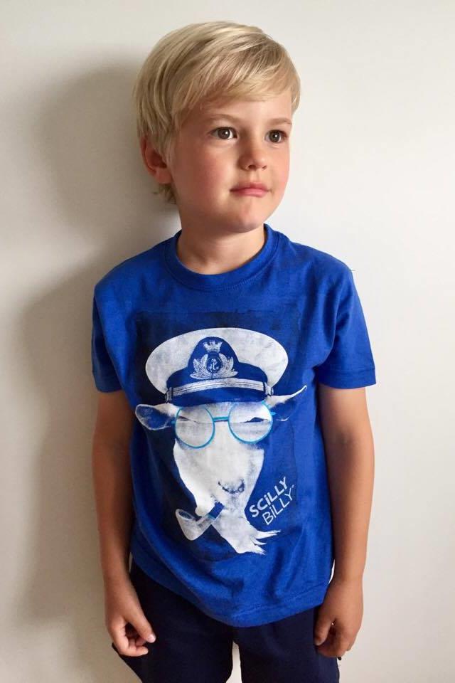 Kids' Scilly Billy Tee in blue