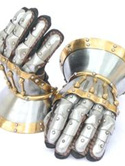 Plate 6A - 14th Century Hourglass Gauntlets with Brass Decoration