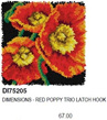 DI75205  Red Poppy Trio