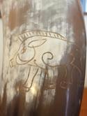 Drinking Horn Type 20 - Engraved Celtic Boar