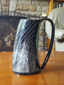 Drinking Horn Type 30 - Horn Beer Tankard with Decorations