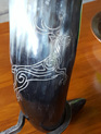 Drinking Horn Type 32 - Engraved Stag