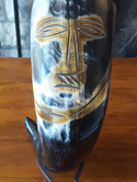 Drinking Horn Type 42 - Drinking Horn with Tribal Face