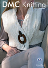 DMF15204L2 DMC Woolly Merino Knitting Pattern  - Wrap Over Cropped Gilet