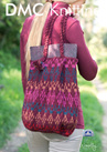 DMF15135L2  DMC Woolly Knitting Pattern - Bag