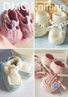 DMF15197L2  DMC Woolly Merino Knitting Pattern - Baby Booties