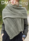 DMF15204L2  DMC Woolly Merino Knitting Pattern - Wrap