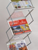 DR1010 A3 x 6, Silver alloy frame with frosted acrylic slanted shelves