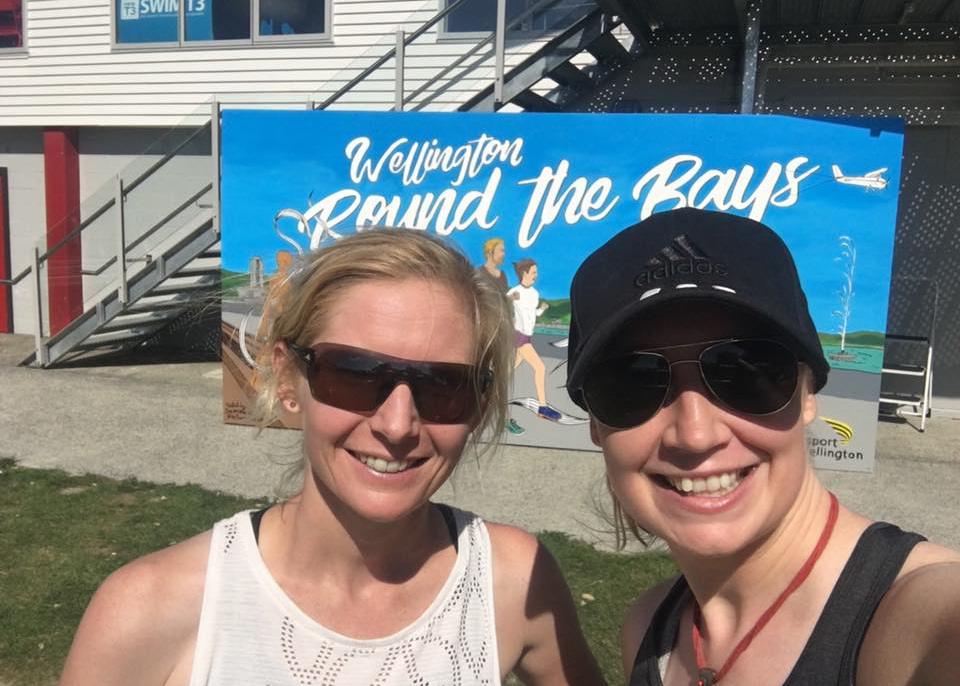 Emma and Kendall at Wellington Round the Bays 2018
