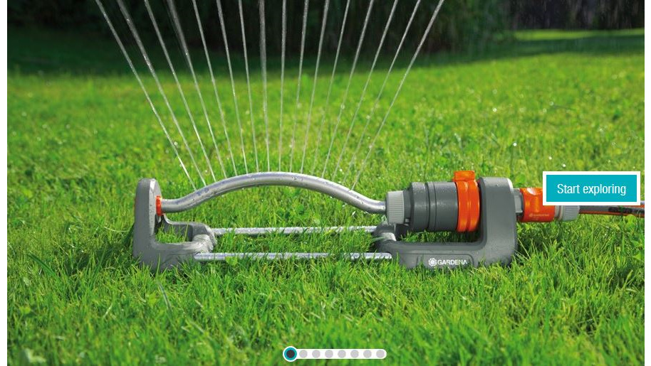 Garden water sprinklers