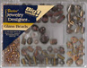 Glass Bead Pack - Beige & Gold